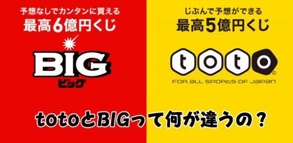 toto(トト)とBIG(ビッグ)って何が違うの?